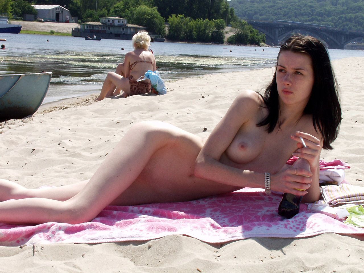 nude beach candid videos
