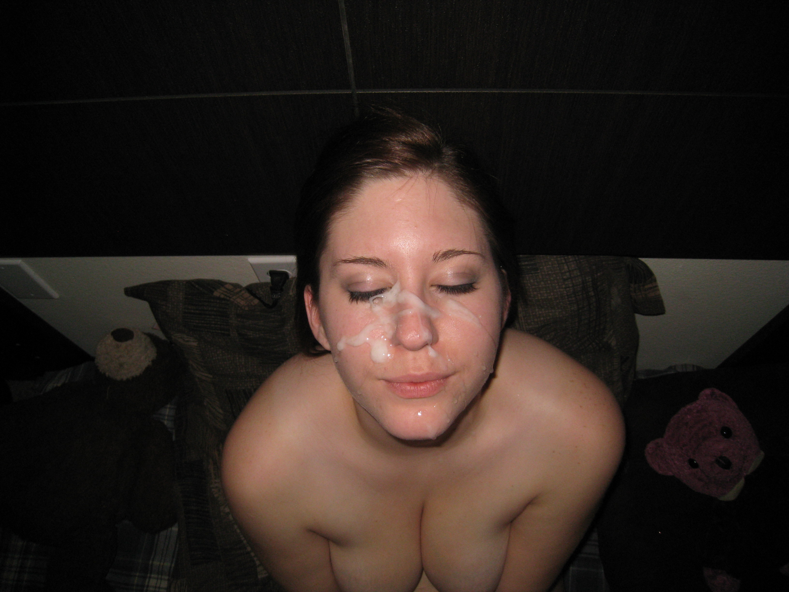 Sex facial girlfriend cum squirt