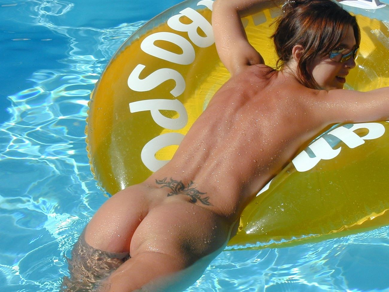 Naked Amateur Teen Skinny Dipping In Swimming Pool  Nude -6260