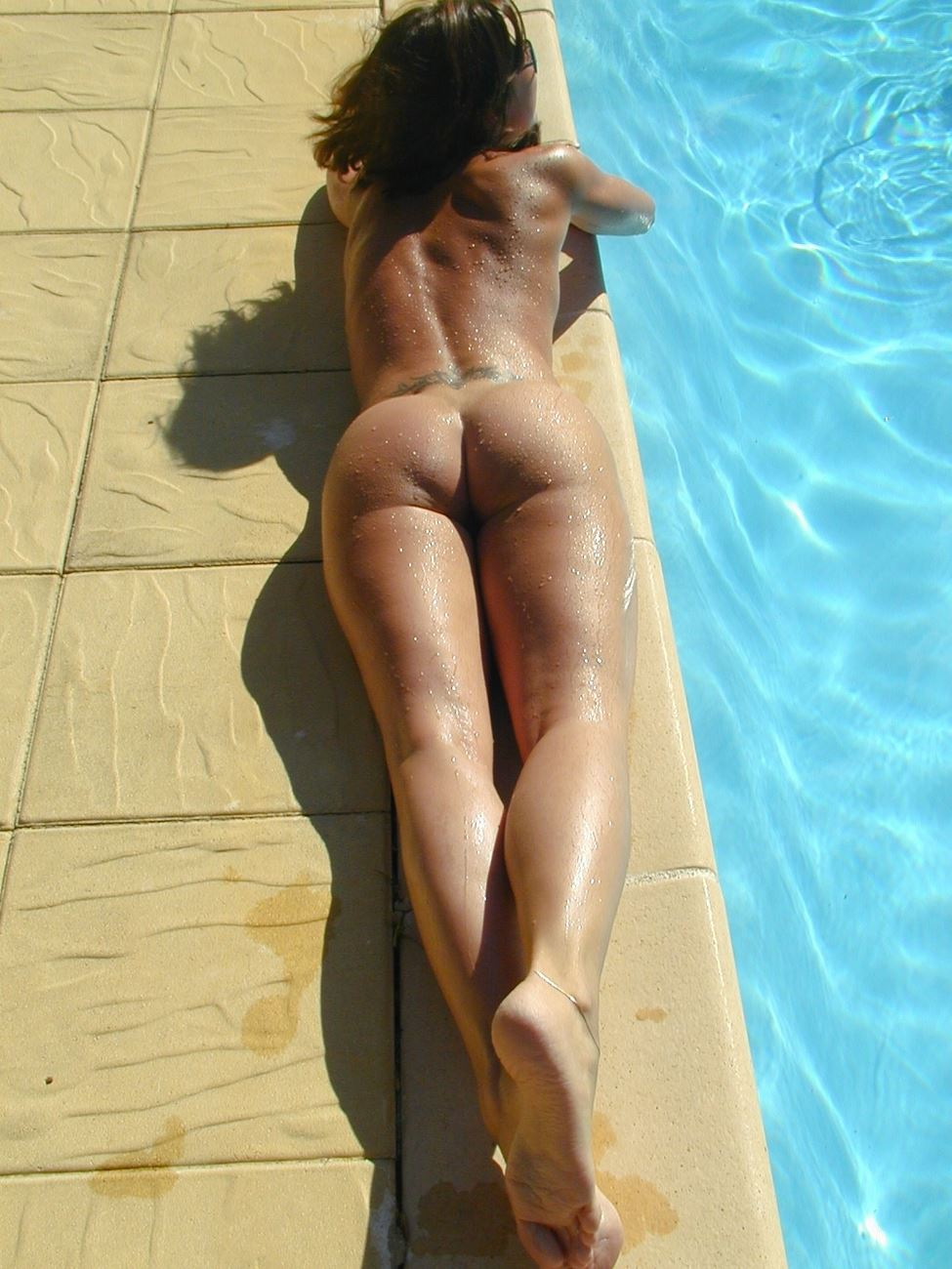 nudist swinger pool party