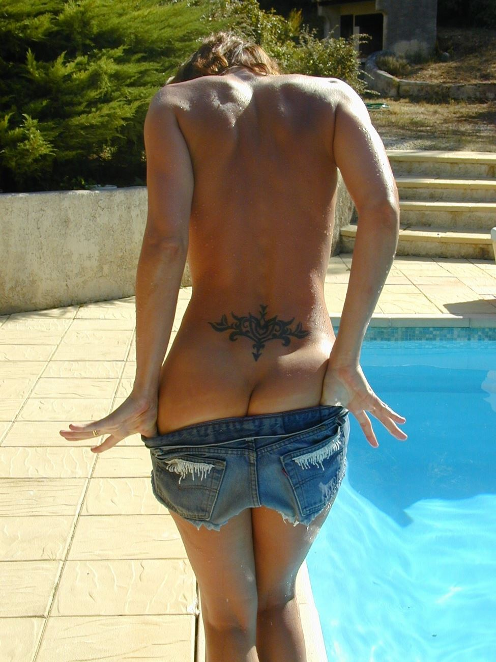 Naked Amateur Teen Skinny Dipping In Swimming Pool  Nude -8175