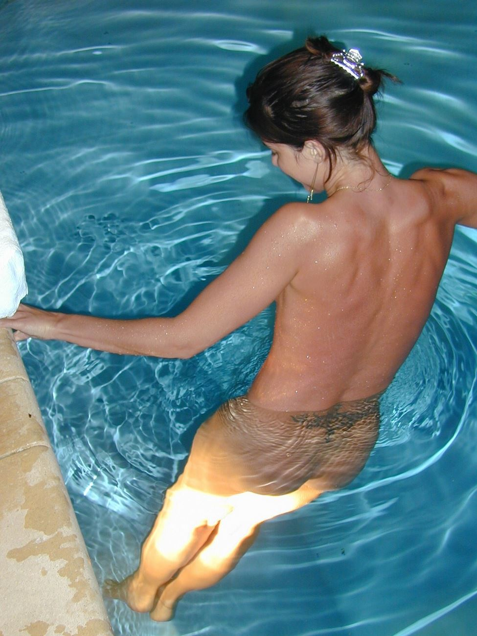 Naked Amateur Teen Skinny Dipping In Swimming Pool  Nude -2225